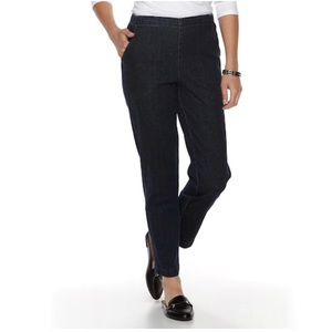 CROFT & BARROW ® CLASSIC PULL-ON BLACK JEANS SZ 8P